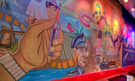 Mural in The Bulldog Palace