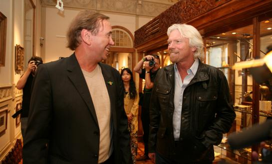 Ben Dronkers and Richard Branson