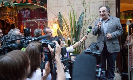 Anthropologist Josep Maria Fericgla opening the Hash Marihuana Cáñamo and Hemp Museum