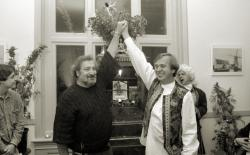 Jack Herer and Ben Dronkers at the launch of the Jack Herer seeds in 1994