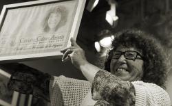 Fernanda de la Figuera  accepting the Cannabis Culture Awards 2012