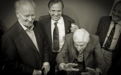Thorvald Stoltenberg, Dries van Agt and Ben Dronkers