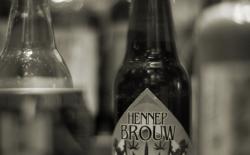 Hemp beer in a display