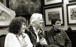 Fernanda de la Figuera, Richard Branson and Todd McCormick