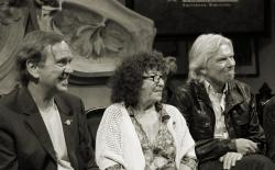 From left to right: Ben Dronkers, Fernanda de la Figuera and Sir Richard Branson