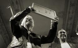 Richard Branson receiving the award