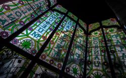 Hash Marihuana Cáñamo and Hemp Museum stained glass
